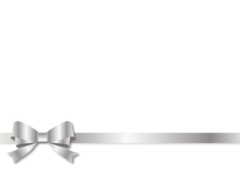 Frame - Double Ribbon Silver 1