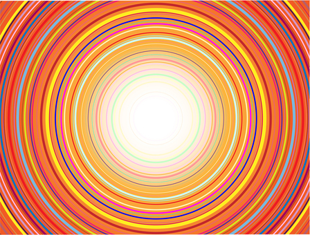 Radial concentric circle 04
