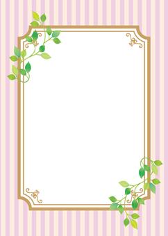Leaf decoration frame pink