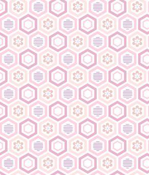 亀甲2 ピンク系