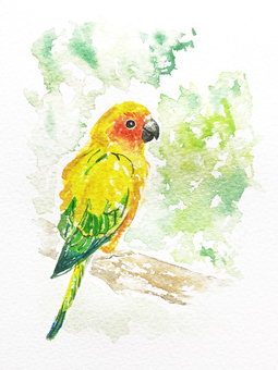 Cute inco watercolor painting