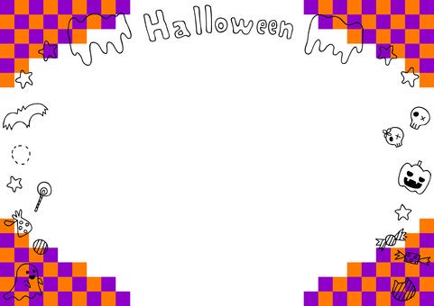 Halloween mosaic frame