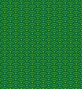 Wave pattern (green)