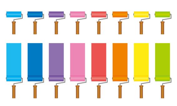 8 color roller