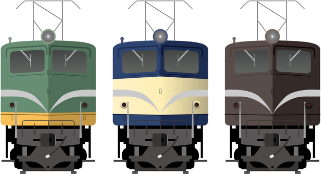 EF 58 electric locomotive (large windows)