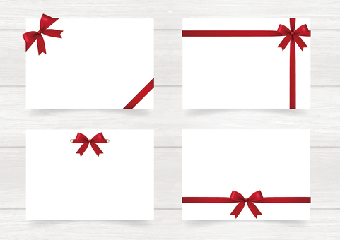 Simple Card with Ribbon 01