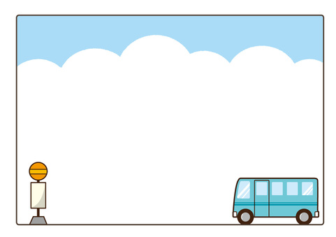 Sky blue bus frame
