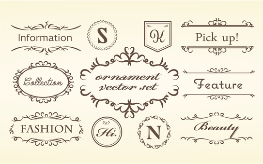 Handwritten wind vector frame set