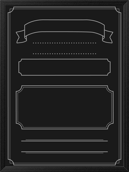Wood grain frame blackboard length 3