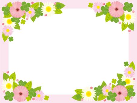 春天粉红色框架