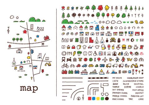 Bản đồ vẽ tay <color>