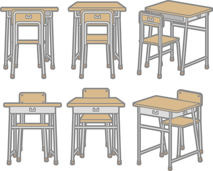 School desk and chair 2
