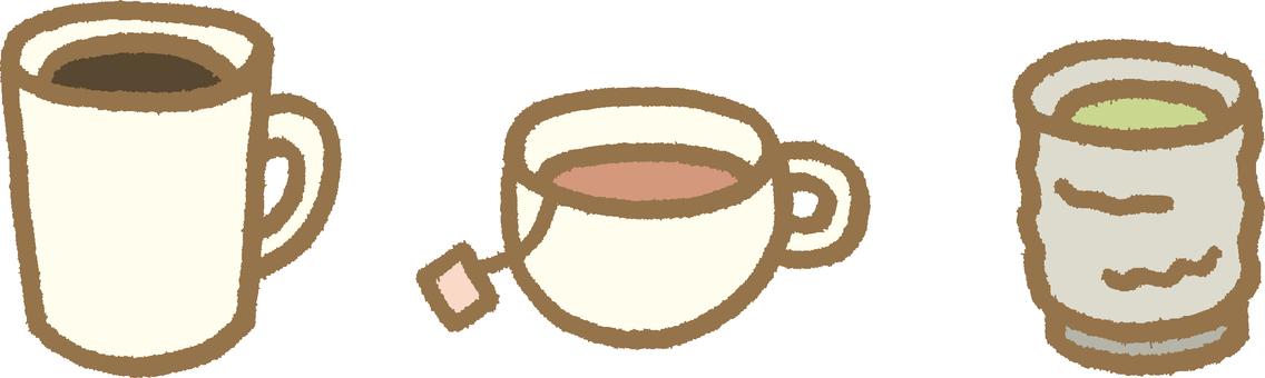 Coffee and tea and green tea 3