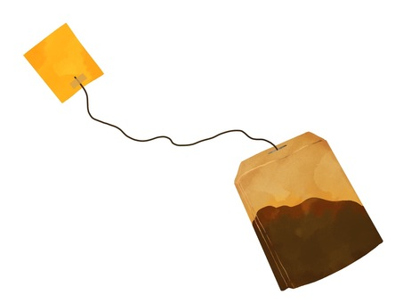 Illustration of tea pack