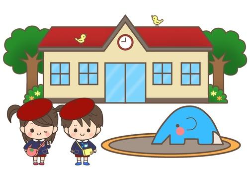 보육원 · 유치원 (빨간색 지붕 + 원아)