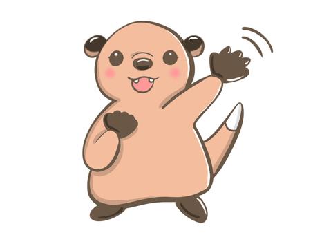 Otter waving