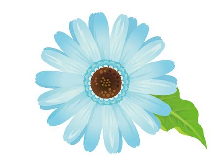 Cut out a light blue flower flower