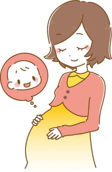 Hamile kadın (EPS ile)
