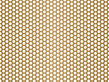 Punching panel wallpaper (45px round hole / gold)