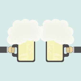 Toast beer