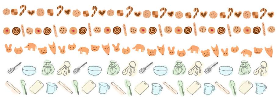 Illustration line of cookie
