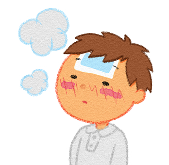 A boy with poor fever