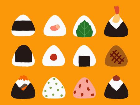 Onigiri set orange