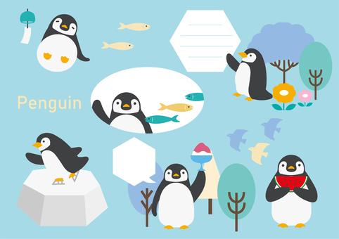 Penguin 2 illustration material