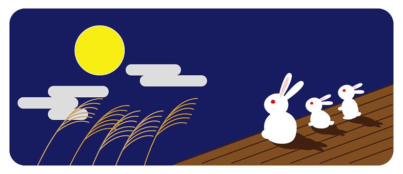보름달과 토끼와 억새