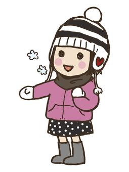 Girls in winter 1