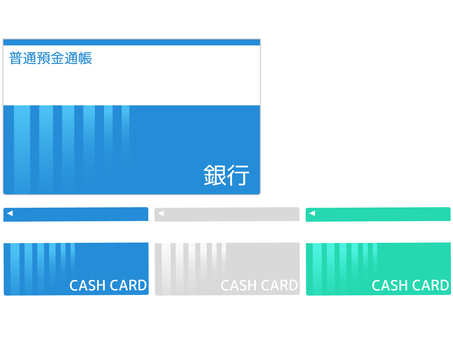 Passbook and cash card icon