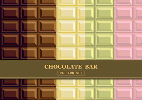 초콜릿 패턴의 세트