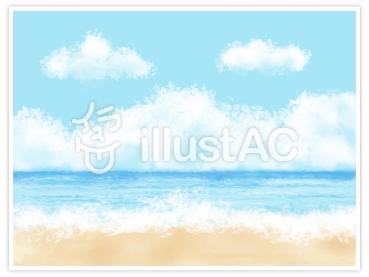 青空と海のイラスト