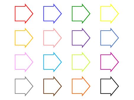 화살표 (안쪽 흰색 페인트)