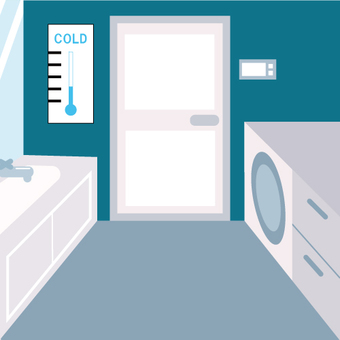 Image of a cold clothing room