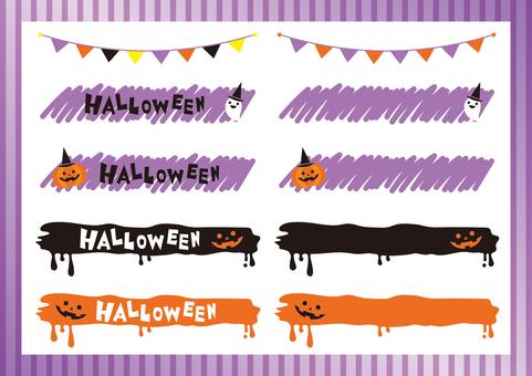 Halloween headline set 01