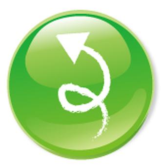 Hand drawn arrow icon - green