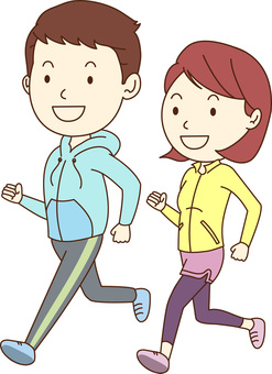 Men & women / jogging