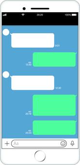 Smartphone sns screen