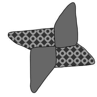 종이 접기 수리검 (무늬 있음)