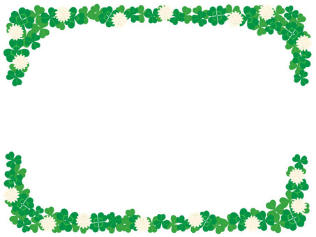 Clover frame with flowers