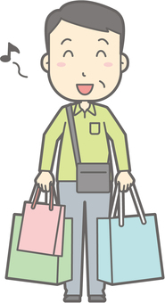 Male Tourism Middle Age - Shopping - Full Length