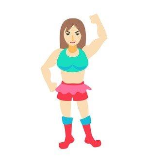 Female wrestler 4