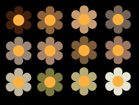 Autumn color flower material set