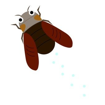 Flying cicada