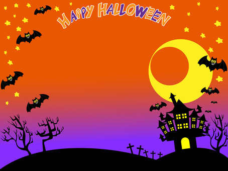 Halloween background logo