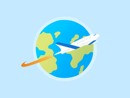 Flight image airplane travel material
