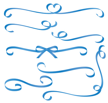 Spinning ribbon set Blue