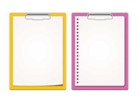 Yellow and purple binder