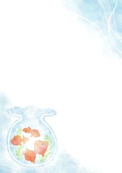 Watercolor fish bowl